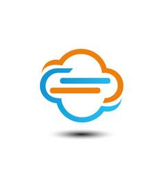 tech cloud logo vector image