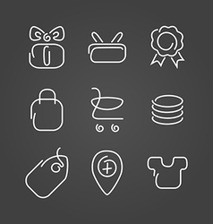 Trade sale set icons draw effect vector image