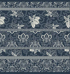 Traditional japanese style fabric patchwork vector
