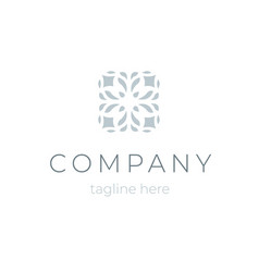 trendy company logo template floral symbol for vector image