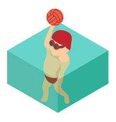 water polo icon isometric 3d style vector image