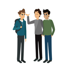 Young adults having a conversation vector
