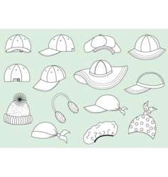caps collection vector image vector image