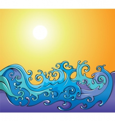cartoon waves background vector image vector image