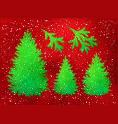 collection of christmas spruce trees and branches vector image vector image