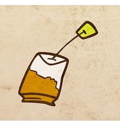 Tea Bag Cartoon vector image vector image