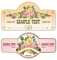 vintage labels vector image