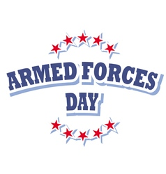 armed forces day america logo isolated on white vector image