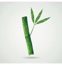 bamboo branch vector image vector image