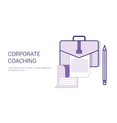 corporate coaching mentoring trainings concept vector image