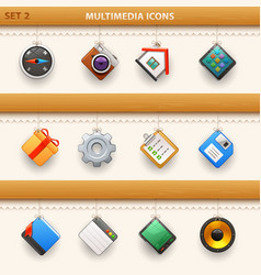 hung icons - set 2 vector image
