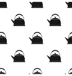 Kettle icon in black style isolated on white vector image
