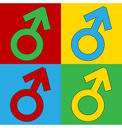 Male icons vector image vector image