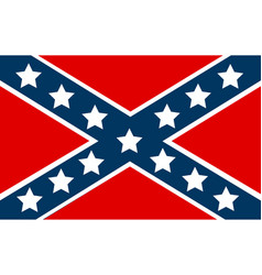 national flag of the confederate states of america vector image