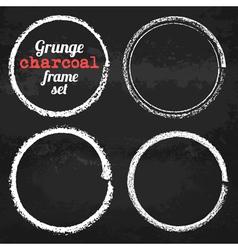 Set of four grunge circle chalk frames vector image