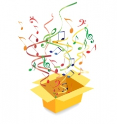 vector box with notes vector image vector image