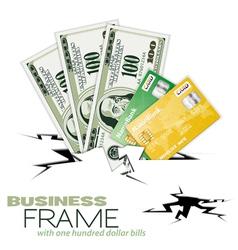 financial crack vector image vector image