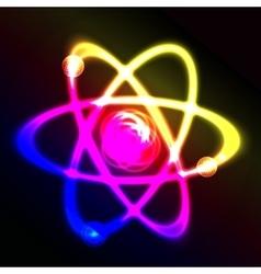 Shining atom scheme vector image