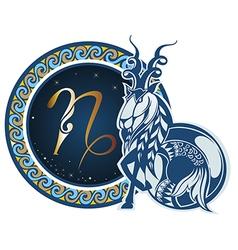 Zodiac signs - Capricorn vector image