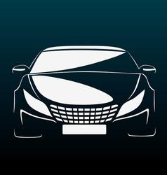 Auto in darkness vector image vector image