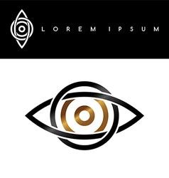 Celtic eye symbol gold black monochromatic vector