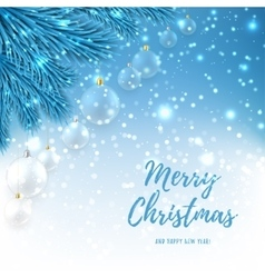 Elegant Christmas background with glass balls vector image vector image
