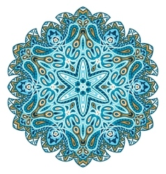 Indian ethnic round ornament Mandala Hand drawn vector image vector image