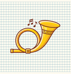 post horn musical instrument baby toy vector image vector image