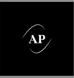 A p letter logo creative design on black color vector