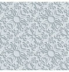 Abstract Paper Floral Pattern vector