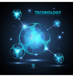 Abstract technology sphere vector image