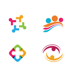 adoption and community care logo vector image