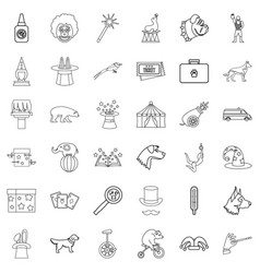 animal health icons set outline style vector image