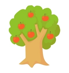 Apple tree icon cartoon style vector image