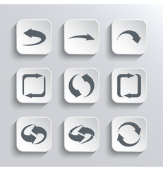 Arrows Web Icons Set vector