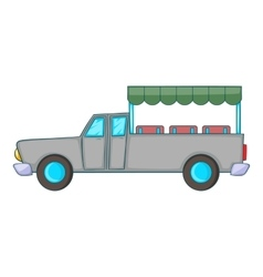 Asian taxi icon cartoon style vector image