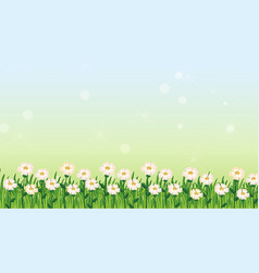 Background design template with green grass vector