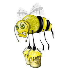 Bee hard work vector