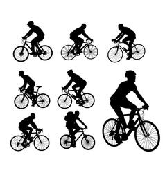 Bicyclists vector