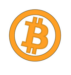 Bitcoin gold coin of crypto currency isolated on vector