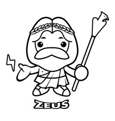 black and white sky and thunder god zeus vector image
