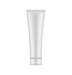 Blank cosmetic tube mockup vector
