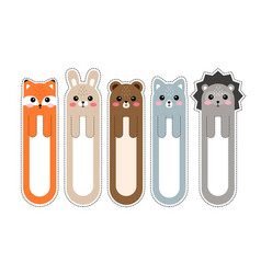 Bookmark paper sticker collection in flat design vector