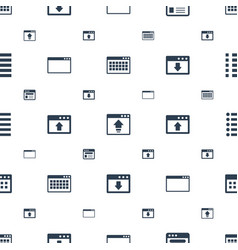 Browser icons pattern seamless white background vector