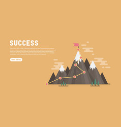 Business goal success concept infographic vector