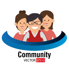 Community social network icon vector