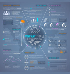 company profile overview infographics template vector image