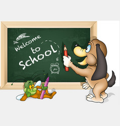 concept welcome to school vector image