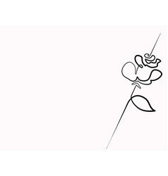 continuous line drawing of beautiful flower vector image