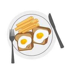delicious breakfast vector image